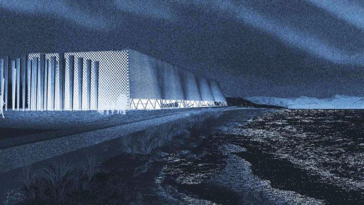 Un paisaje modelado para el Centro Antártico Internacional de Punta Arenas